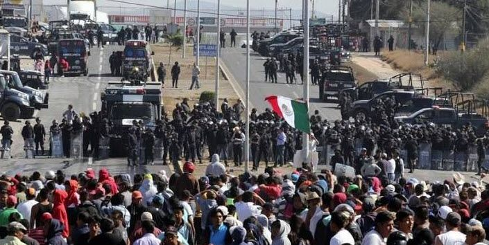 """Long-simmering social tensions in Mexico are threatening to boil over as failingneoliberal reforms to the country's formerly nationalized gas sector are compounded by open corruption, stagnant standards of living, and rampant inflation. The U.S. media has remained mostly mute on the situation in Mexico, even as the unfolding civil unrest has closed the U.S.-Mexico border in San Diego, California, several times in the past week. Ongoing """"gasolinazo"""" protests in Mexico over a 20 percent…"""