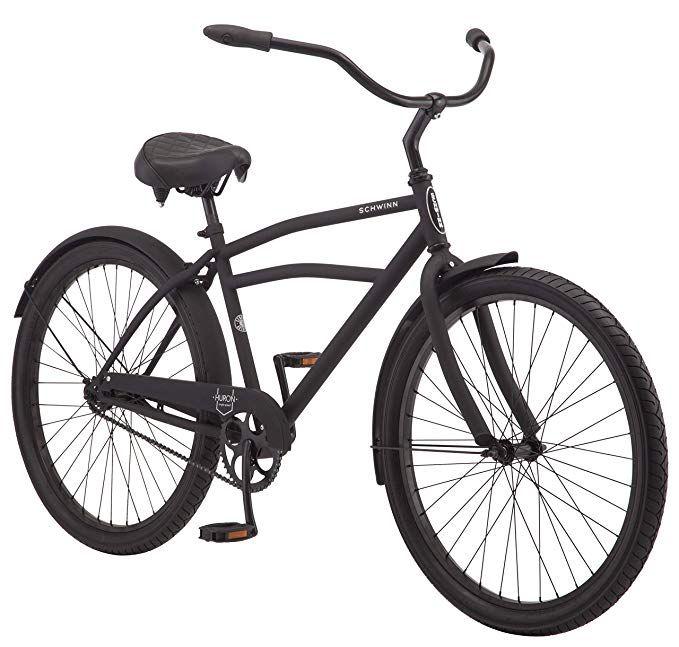 Schwinn Huron Men S Cruiser Bike Single Speed 26 Wheels Black Gateway Cruiser Bike Beach Cruiser Bike Schwinn