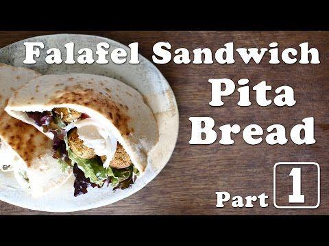 "Falafel Sandwich 1/3 ""Pita Bread"" (vegan) ☆ ファラフェルサンドイッチの作り方1 〜ピタパン〜 - YouTube"