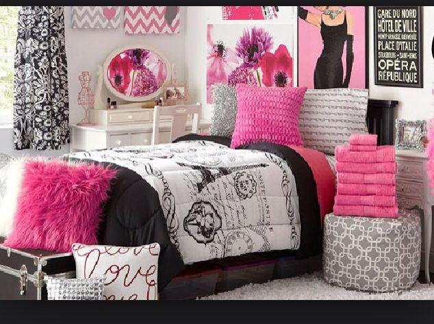 Paris Themed Girls Bedroom