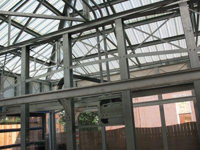 Translucent fiberglass roofing panels
