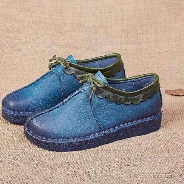 Women Shoes Genuine Leather Shoes Handmade Soft Comfortable Flat Shoes Woman Casual Shoes Women .Free shipping worldwide.