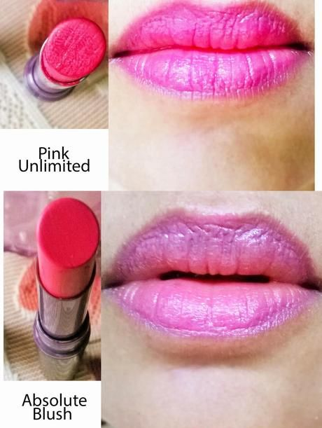 Oriflame The One Color Unlimited Lipstick in Pink Unlimited & Absolute Blush
