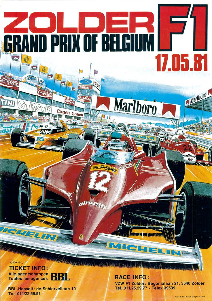 GP F1 1981 vak BBL ZOLDER