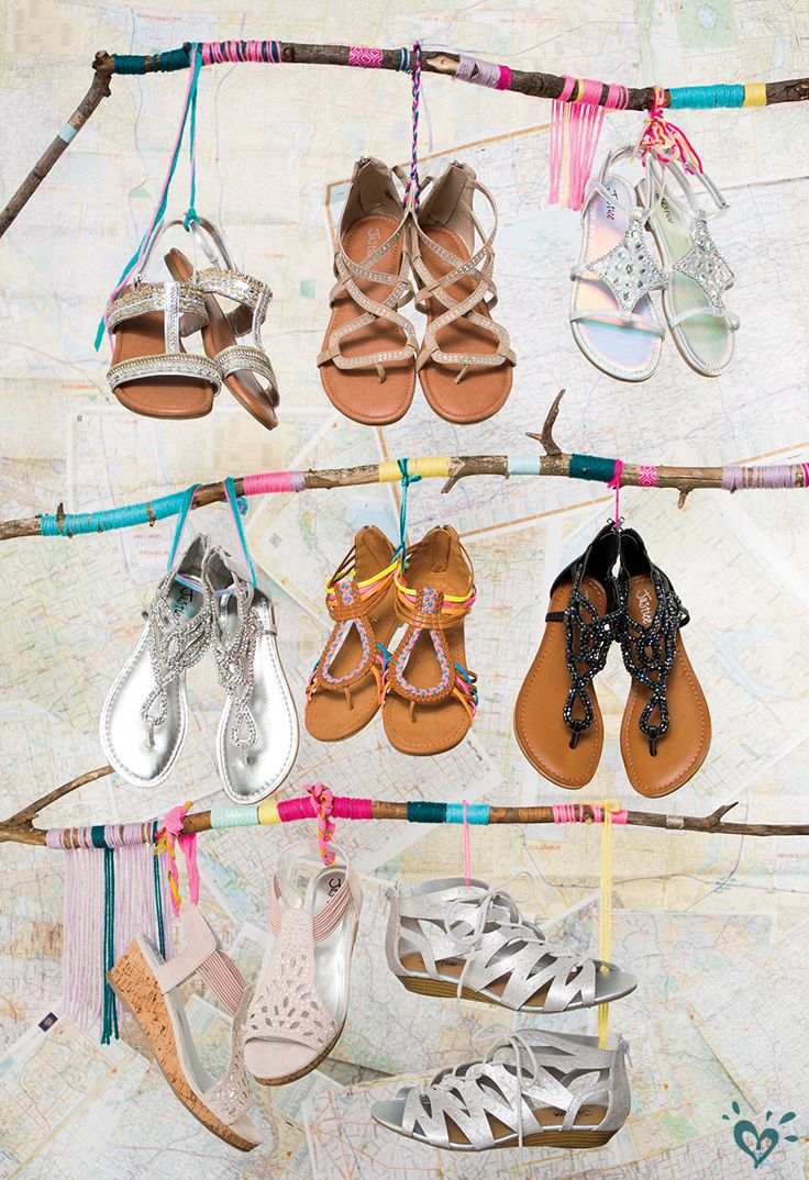 Shimmering sequins, embroidered embellishments & can't-miss cutouts are on our must-have list for sandal season! | Justice