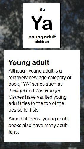 ya young adult httpwwwlakescountrylibraryorg literary elementsperiodic tablelibrary - Periodic Table Of Elements Ya