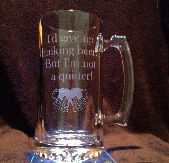 27oz Etched Glass Beer Mug, can be personalized
