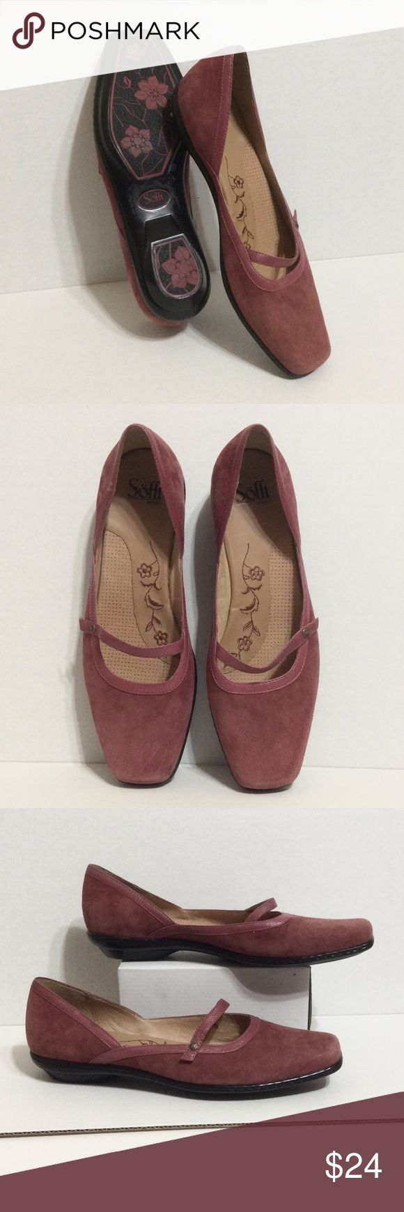 Salmon leather Sofft walking shoe NWOT Never worn gorgeous shoes with the comfy know how of Sofft, MATERIAL SUEDE, SIZE 10M Shoes Flats & Loafers