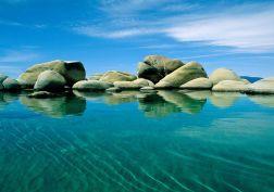Rocks over sea