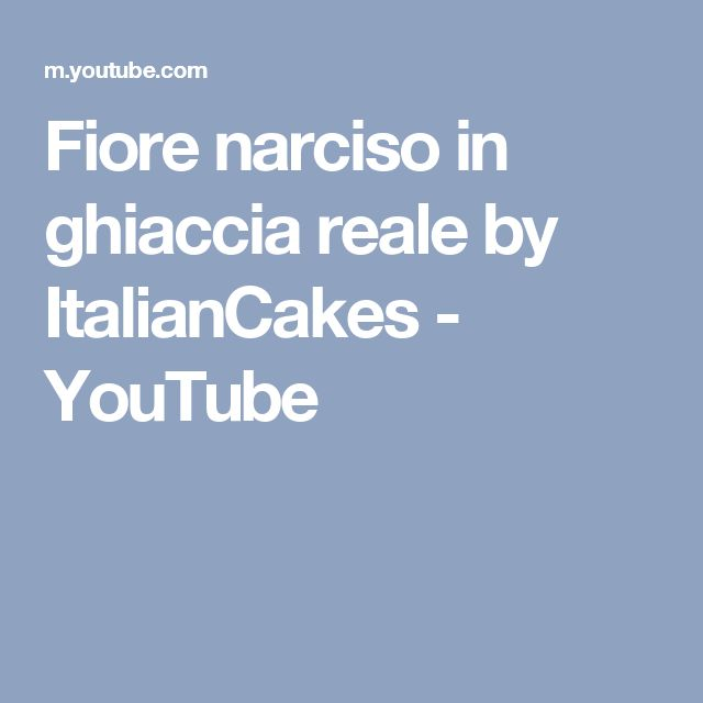 Fiore narciso in ghiaccia reale by ItalianCakes - YouTube