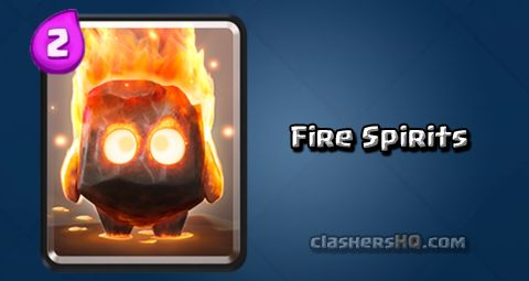 Find out all about the Clash Royale Fire Spirits Card. How to get Fire Spirits & attack/counter Fire Spirits effectively.