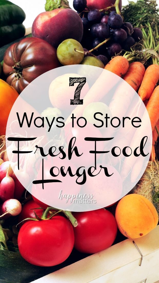 Don't waste money because of wasted food. There are several way to store fresh food longer to get the most out of your food budget! via @living5x5