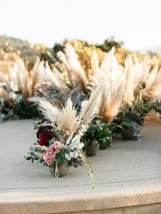 Mariage bohème chic décoration style boho Des herbes de pampa pour décorer vo…