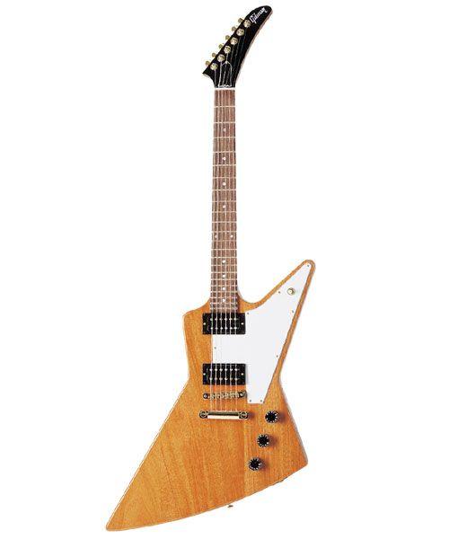 かっこいいギターのデザインまとめ☆ギブソン:エクスプローラー フライングVと並ぶ変形ギターの代表格。                              …                                                                                                                                                                                 もっと見る