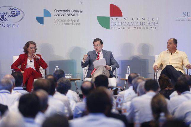 Rajoy avanza un crecimiento mayor al 2% ante empresarios iberoamericanos - http://plazafinanciera.com/economia/espana/rajoy-avanza-un-crecimiento-mayor-al-2-como-anzuelo-para-los-inversores-iberoamericanos/ | #CumbreEmpresarial, #CumbreIberoamericana, #España, #México, #PIB, #Portada #España