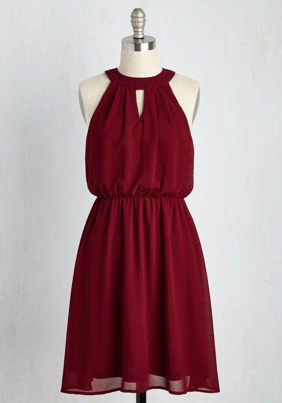 Burgunder chiffon ärmellose Sommer Kleid/Frauen von LucyanneStudio