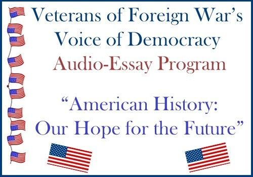 audio essay contest 6 days ago  the voice of democracy audio-essay contest is open to students in grades 9-12  entrants must prepare and record on cd a 3-5 minute speech.