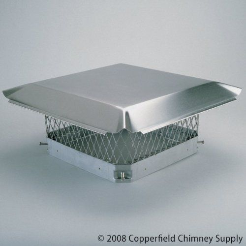 """HY-C COMPANY 05307 13 in. x 13 in. Hy-C Stainless Chimney Cap by Hy-C. $89.76. Great Gift Idea.. 3/4 Mesh 24-ga. Top 18-ga. Mesh And Base.. Satisfaction Ensured.. Dimensions: 13 x 13.. Manufactured to the Highest Quality Available.. Dimensions: 13"""" x 13"""". 3/4"""" Mesh 24-ga. Top 18-ga. Mesh And Base. Manufactured to the Highest Quality Available. Satisfaction Ensured."""
