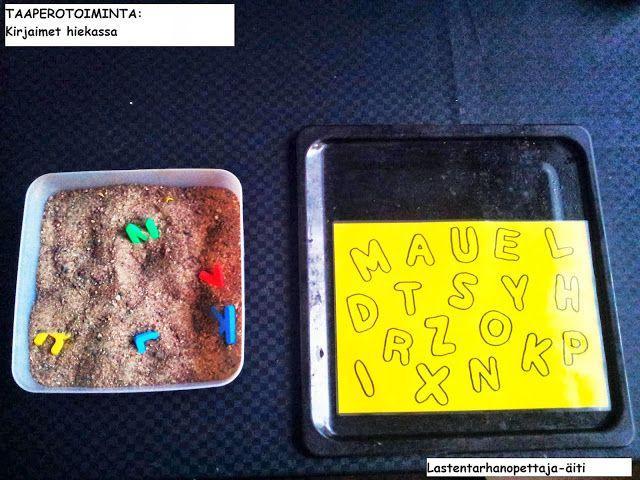 leikit, sisäleikit, aistileikit, tuntoaistimukset, kirjaimet, hiekkaleikki