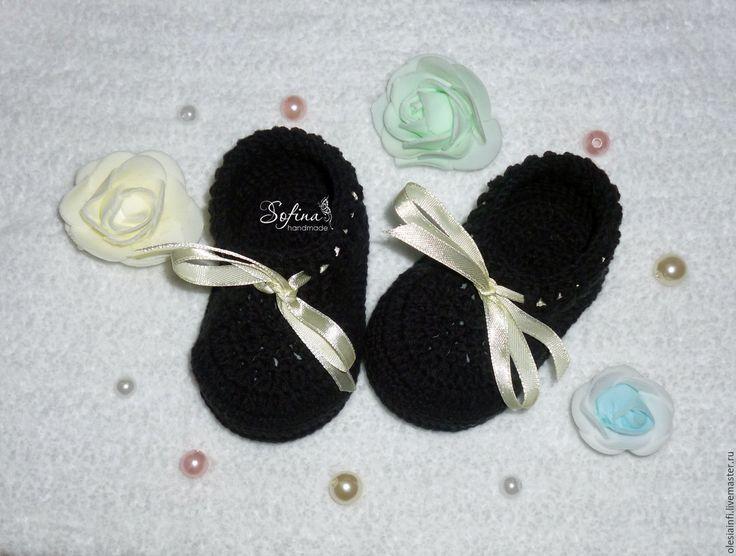 Купить Пинетки моксы для новорожденных, пинетки для фотосессии - черный, пинетки, пинетки моксы, пинетки кеды