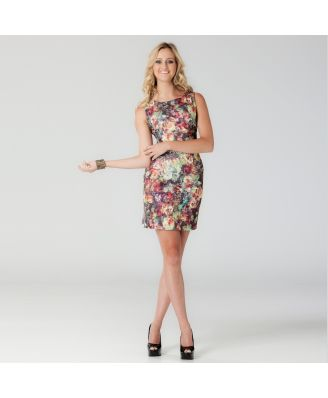 Langhem Zoe Floral Scuba Party Dress $99 from Swish