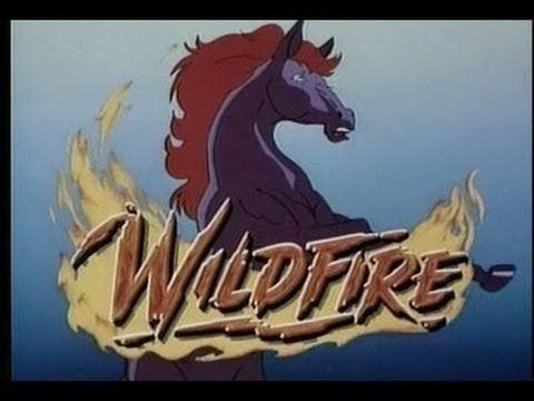"""'Wildfire' """"Cavalo de Fogo foi um desenho animado produzido por Hanna-Barbera em 1986."""" A-MA-VA! ♥"""