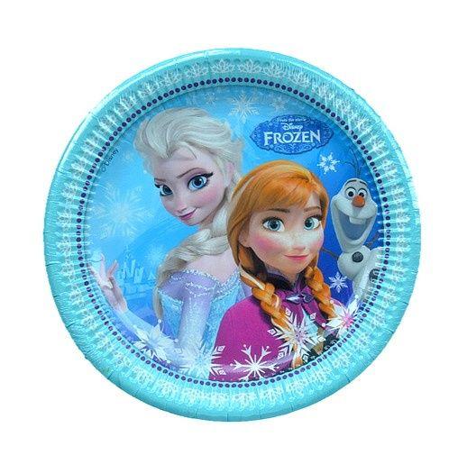 Frozen borden 6 stuks 23cm voor slechts 2,75 euro te koop bij Feestwinkel Altijd Feest.