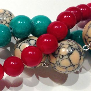 Dyed Jade and Howlite