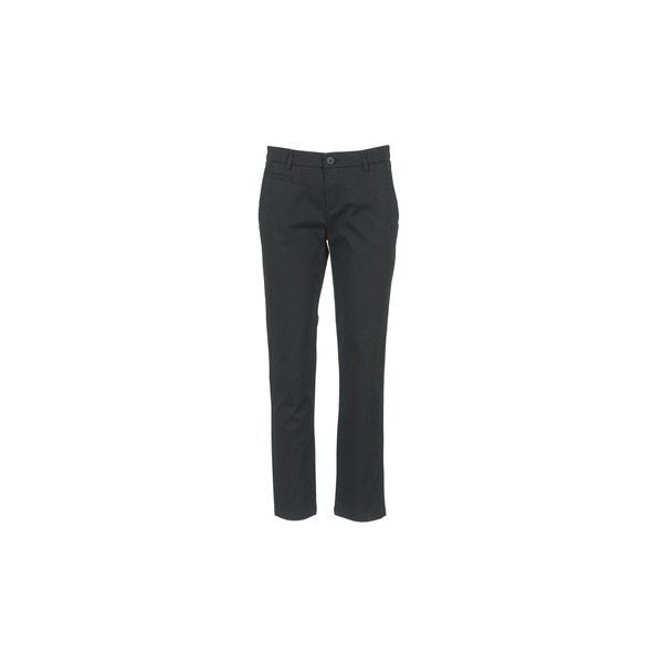 Benetton AMOULA Trousers ($42) ❤ liked on Polyvore featuring pants, black, trousers, women and benetton