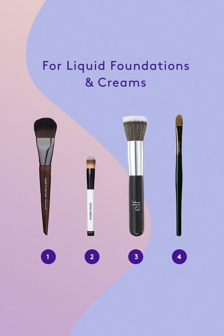 The Only Makeup-Brush Cheat Sheet You'll Ever Need #refinery29  http://www.refinery29.com/makeup-brush-guide#slide-1  For Liquid Foundations