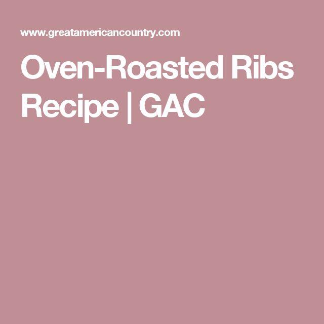 Oven-Roasted Ribs Recipe | GAC