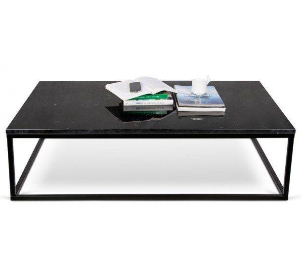 Temahome - Prairie Sofabord - Sort - Sofabord med sort marmorplade