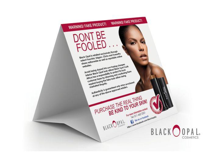 BLACK OPAL- Tent Card