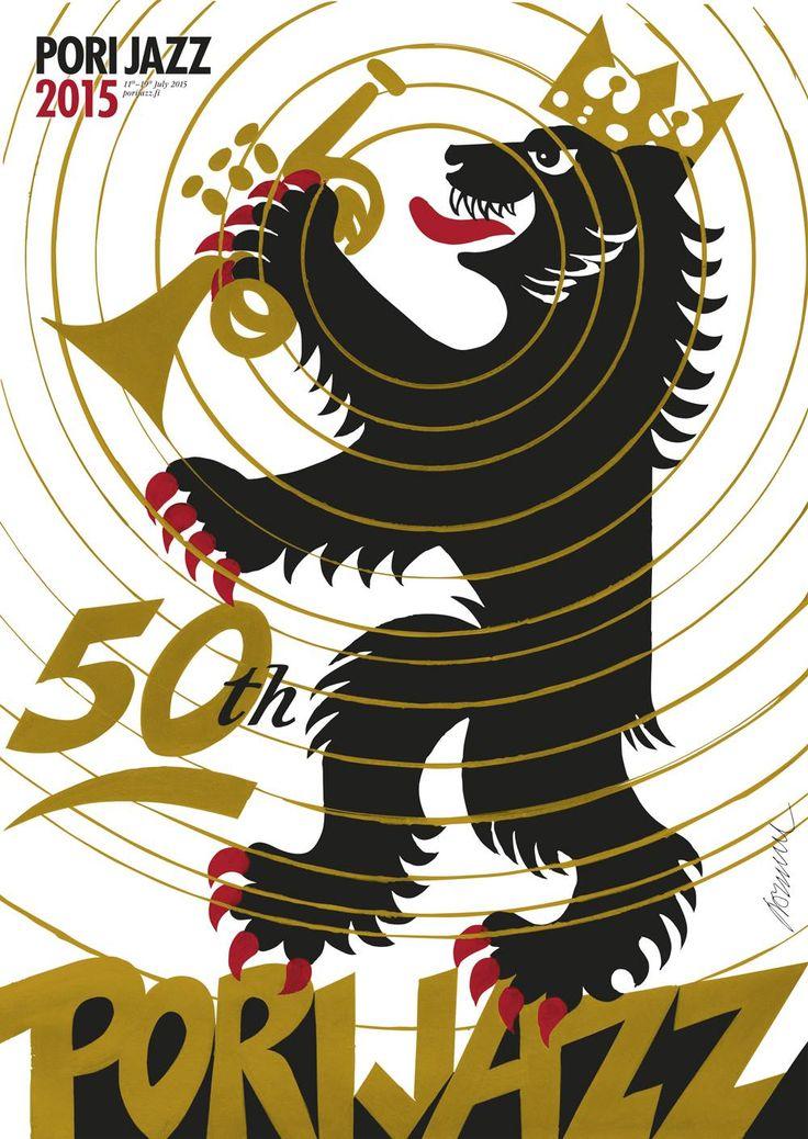 50th Pori Jazz 2015 festival poster, designed by Erik Bruun