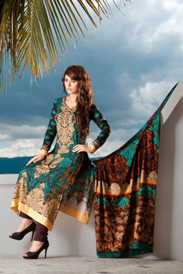 Firdous Fashion Paris Linen 2012 Collection | Latest Fashion Trends