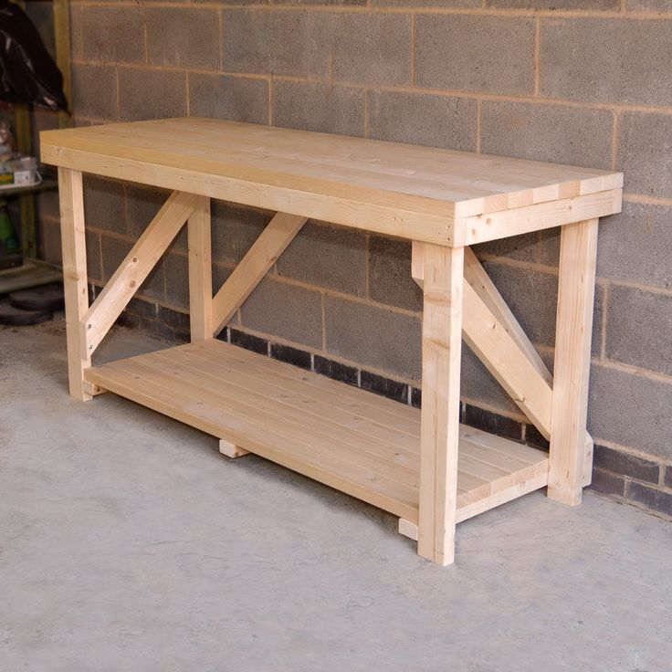 NEW WOODEN WORK BENCH, HEAVY DUTY, STRONG & STURDY, HAND MADE. in Home…