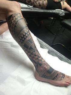 polynesian leg tattoo - Google Search