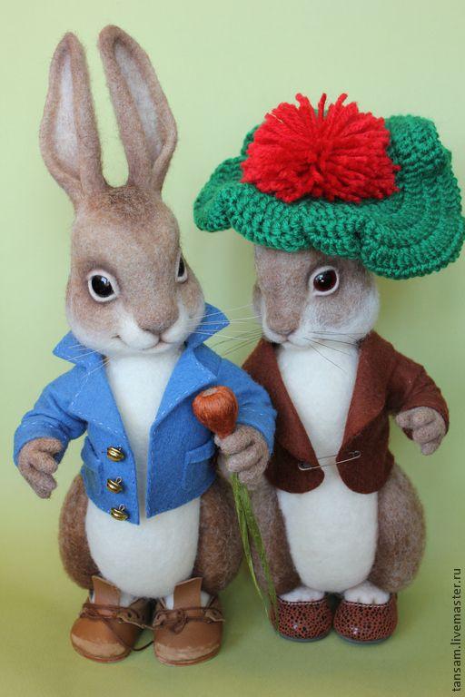 Купить Кролик Питер - Беатрис Поттер, Питер, кролик, кролик игрушка, фильцевание, фильц