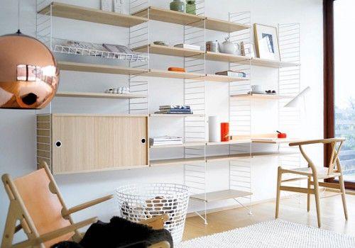 On the hunt for vintage treasures: String Shelf System by Nils Strinning - Retro Renovation