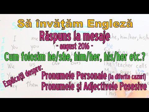 Sa invatam engleza - Raspuns la mesaje: PRONUME PERSONALE si POSESIVE - ...