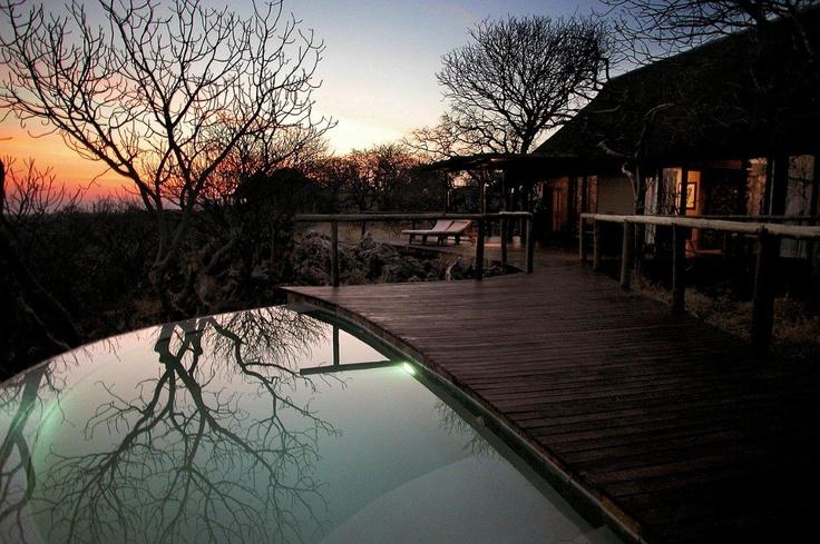 Twilight at Little Ongava, Ongava Private Game Reserve adjacent to Etosha National Park #Namibia
