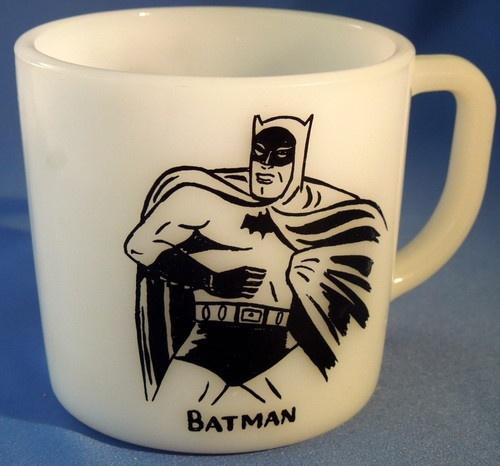 Batman Mug Vintage 1966 Westfield White with Black Image | eBay