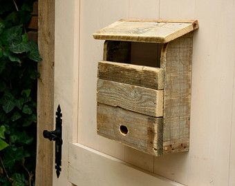 Mailbox made from recycled pallet wood, handmade. Exclusive piece.