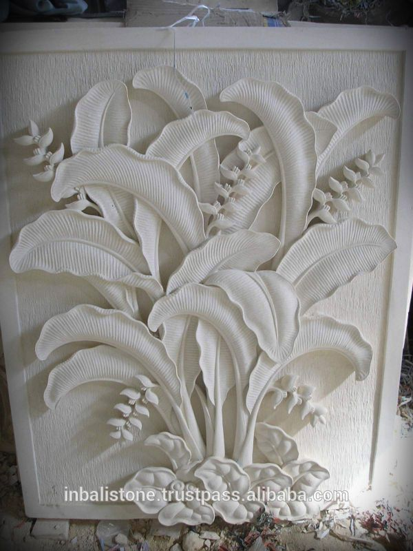 Relief Wall Carving With Heliconia Design Find Complete