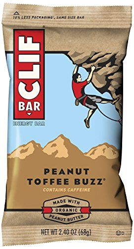 Nutrition for sustained energy. Soy Protein. 23 Vitamins and minerals. Electrolytes; Antioxidants. Moist & chewy. All natural. 70% Organic ingredients. #Clif Bar...