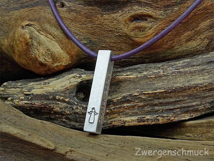 Namensarmbänder - & Ketten - Barren Halskette Schutzengel Gravur - ein Designerstück von Zwergenschmuck bei DaWanda