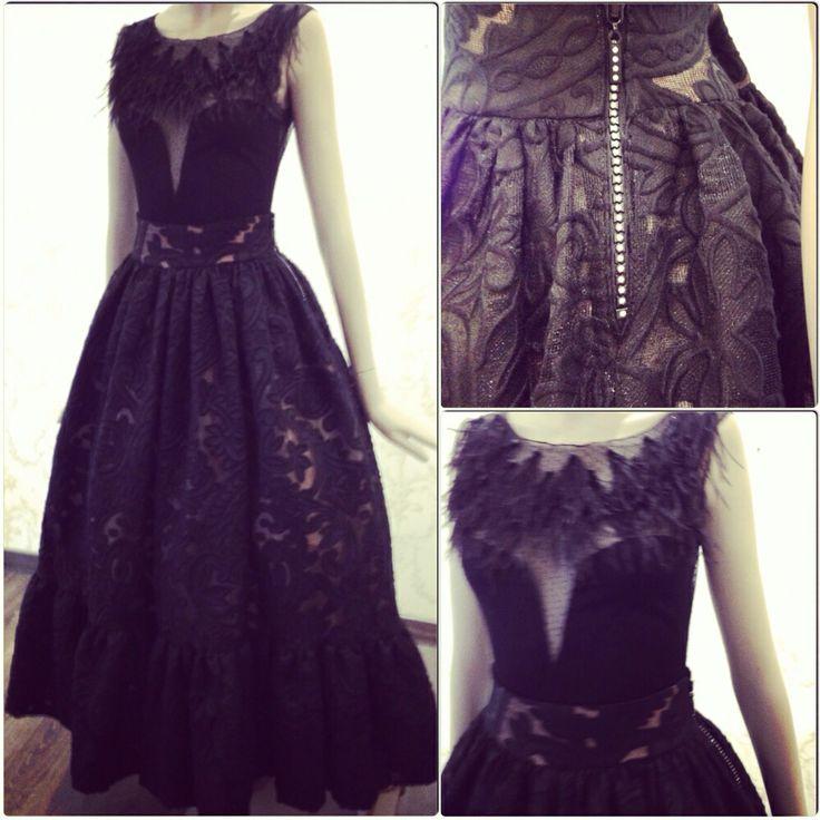 Black and babypink longdress