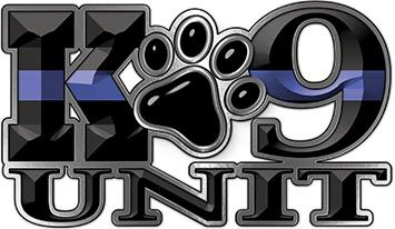 K-9 Unit Law Enforcement Police Dog Paw Decal with Thin ...