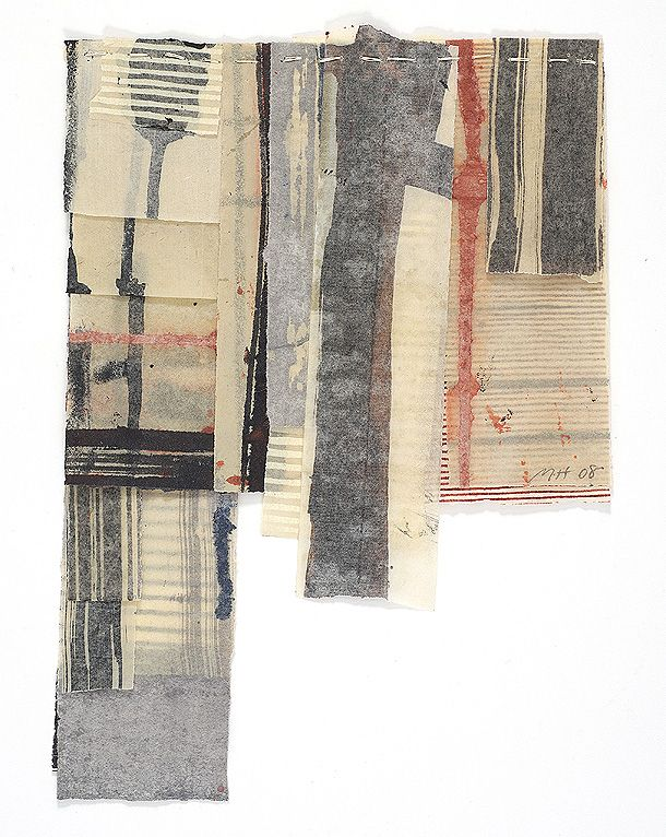Matthew Harris Temple notebooks. Cartoons for cloth. Each approximately 19 x 26cm Mixed media on stitched paper.