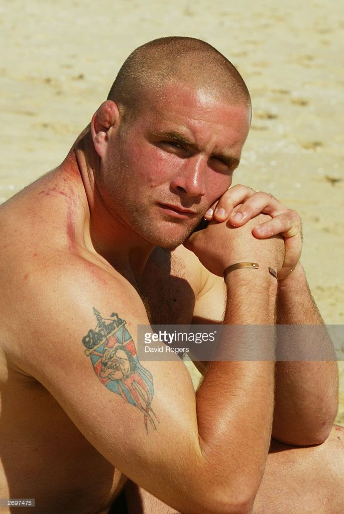 Phil Vickery of England poses during a photoshoot held on October 7, 2003 at Scarbrough Beach, in Perth, Australia.